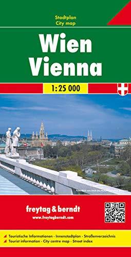 Wien, Stadtplan 1:25.000: Mit touristischen Informationen, Innenstadtplan, Straßenverzeichnis (freytag & berndt Stadtpläne)