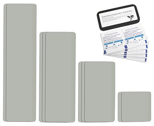 Parche para reparar toldos de semirremolques | disponible en multitud de colores | Easy Patch Comfort 100 mm de ancho - 10 piezas - | Gris Claro/ágata gris RAL 7038