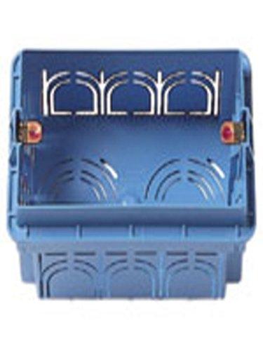 VIMAR–Box Einbauleuchte eckig 3Modul blau