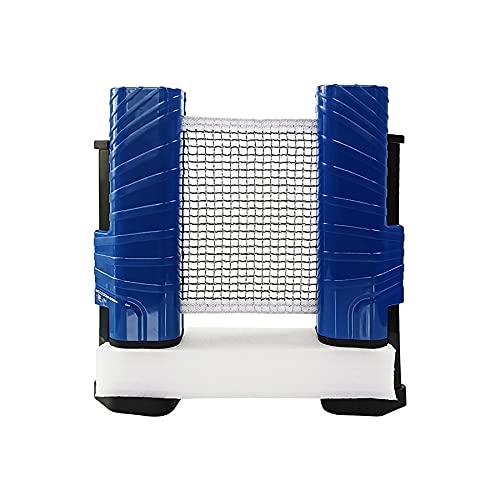Verstelbare Intrekbare Net, Ping Pong-Apparatuur To-Go Inclusief Intrekbare Netpost, Bevestig Aan Elk Tabeloppervlak…