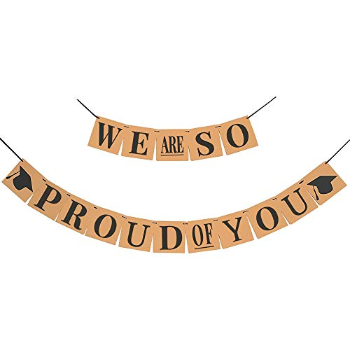 We are So Proud of You Banner - Kraft Paper Banner   We Are So Proud Of You Graduation Banner   Graduation Decorations 2020   Army Decorations For Party   Graduation Banner Decorations Party Supplies