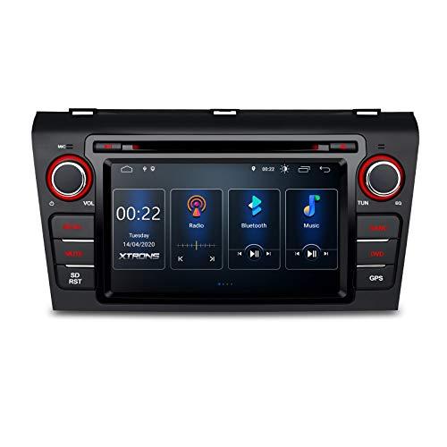 "XTRONS 7"" Android 10.0 Autoradio Bluetooth GPS-Navigation Autoradio DVD-Player Eingebauter DSP Unterstützt CarAutoPlay Voll-Cinch-Rückfahrkamera WiFi OBD2 DVR TPMS für Mazda 3 2004-2009"