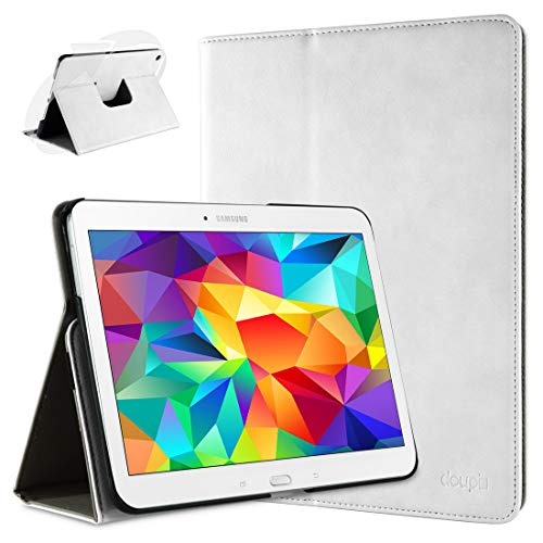 doupi Deluxe Schutzhülle für Samsung Galaxy Note Pro (12,2 Zoll), 360 Grad drehbar Tablet Etui Schutz Hülle Ständer Cover Tasche, weiß