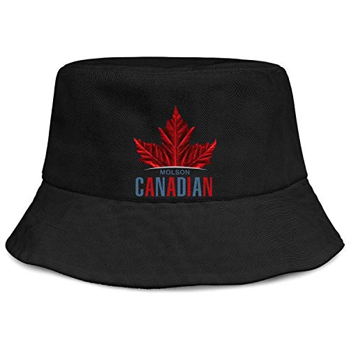 Best Bucket Hat for Women Canada Day Red Maple Leaf Molson Canadian Fishing Sun Hat Cotton Packable Floppy Beach Hunting Summer Cap