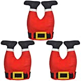 3 Pack Novelty Santa Pants Hat Christmas Santa Hat Santa Chimney Hat Funny April Fools Day Hat Christmas Party Accessories