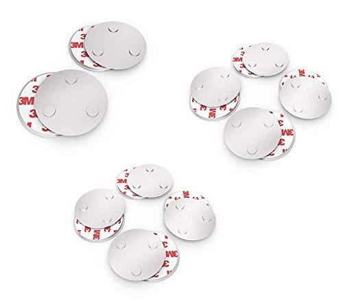 conecto CC50498 magneethouder magneetbevestiging universeel magnetisch voor rookmelder waarschuwingsmelder rookmelder (set van 10) zilver, 10 stuks