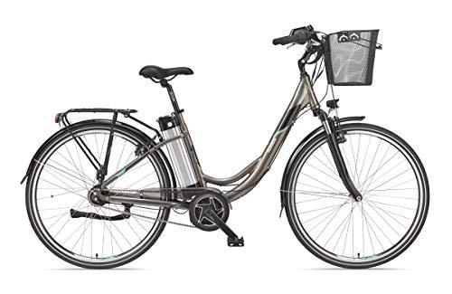 Telefunken E-Bike Damen 28 Zoll Elektrofahrrad - 7-Gang Shimano Nabenschaltung, Pedelec Citybike Alu mit Fahrradkorb, Mittelmotor 250W /10,4Ah / 36V Sitzrohrakku, RC870 Multitalent