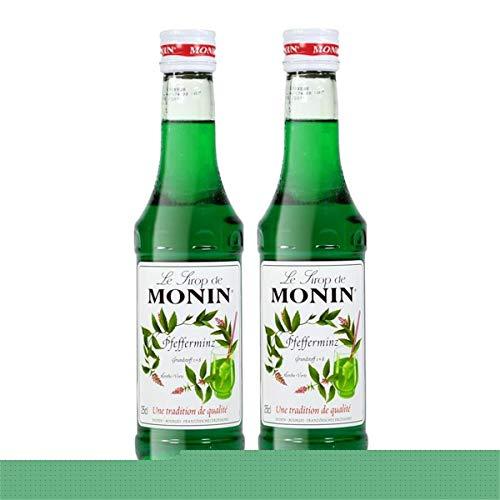 2x Monin Pfefferminz Sirup, 250 ml Flasche