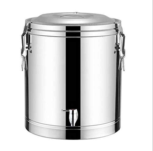 Elektroheizschaufel Edelstahl 304 isoliertes Fass, langer kommerzieller Kochschaufel mit großem Fassungsvermögen und Wasserhahn (Color : Silver, Size : 85L)