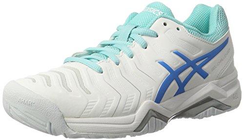 Asics Gel-Challenger 11, Zapatillas de Tenis Mujer, Blanco...