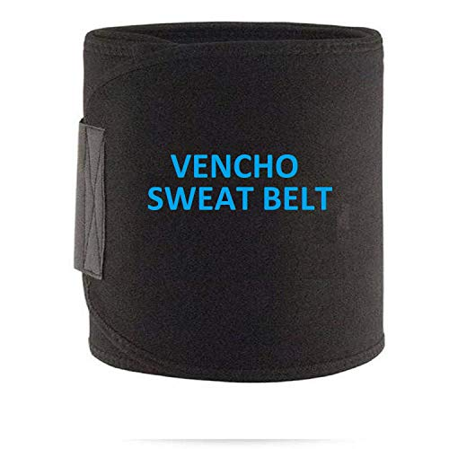 VENCHO? Stomach Reducer Slim Belt Sweat Slim Belt Free Size for Man and Women Fat Burning Healthy Sweat, Weight Loss, Lower Back Posture(Free Size)(Both Men and Women) Black