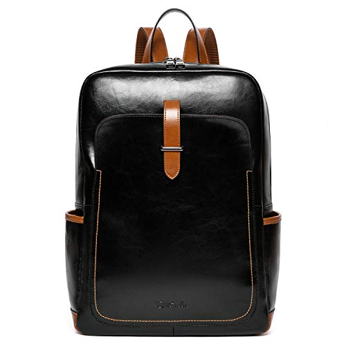 BOSTANTEN Leather Laptop Backpack Purse Casual College Casual Bags Daypack