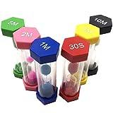 USNASLM Reloj de arena temporizador Set 6 colores 1/3/5/10/15/minutos 30Seconds Sandglass reloj para el hogar Dropshipping