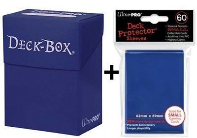 Ultra Pro Deck Box + 60 Small Size Protector Sleeves - Blau - Blue - Yu-Gi-Oh! - Japanese Mini