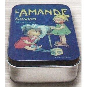 BOITE A SAVONS METAL PUB RETRO SAVON DE MARSEILLE L'AMANDE