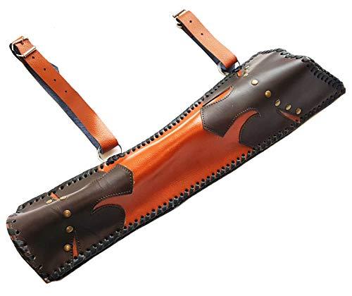 starlingukpk Carcaj para tiro con arco tradicional de piel auténtica. Carcaj lateral. Soporte para flechas.