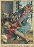 Scimpanze strappa una bimba dalle braccia della madre, la quale entra nella gabbia e porta in salvo la sua creaturina.