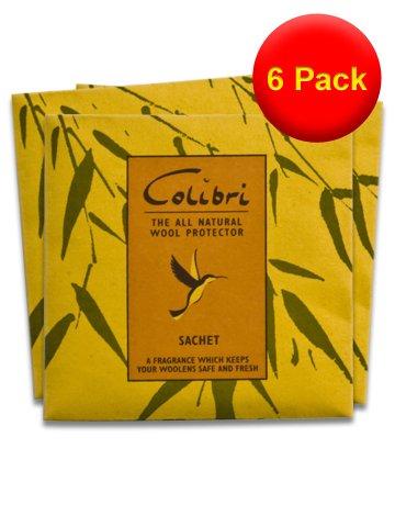 Lot 6 X Lot de 3 Sachets de citronnelle Anti-mites naturels Colibri-antimites