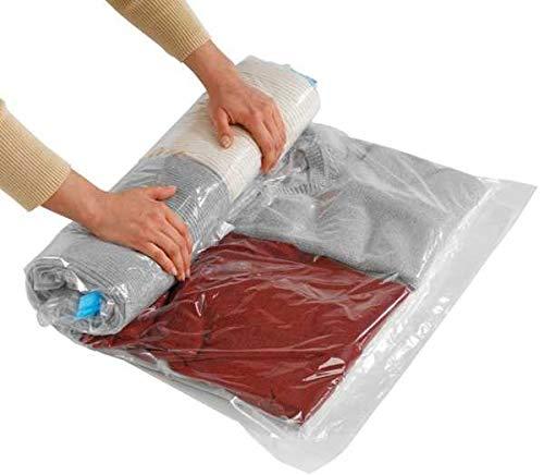 WENKO Komprimierungssystem Roll M - platzsparend, Polyethylen, 50 x 70 cm, Transparent