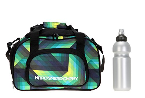Set: NITRO Sporttasche Duffle Bag + CO2 Trinkflasche (Sporttasche Geo Green)