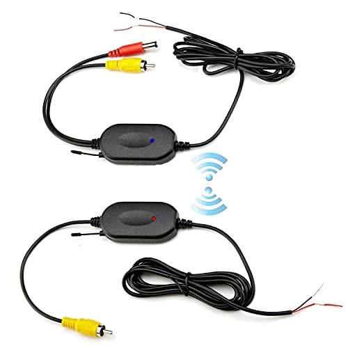 Transmisor y Receptor de Video inalámbrico Podofo 2.4G 1.5M para cámara de visión Trasera del vehículo/cámara Frontal del automóvil