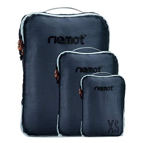 [riemot] トラベルポーチ アレンジケース 3点セット 軽量 衣類収納 スーツケース整理 旅行 出張 ダークグレー