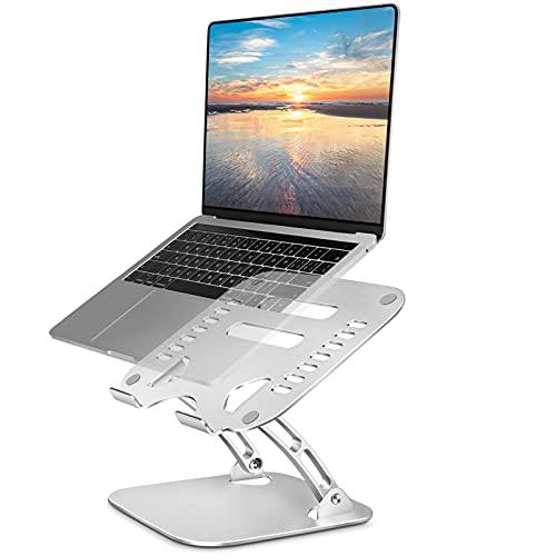 TECOOL Soporte Portatil, Ajustable Elevador Portatil Computadoras Alluminio Multiángulo Ventilación Laptop Stand per Macbook Pro, Air, DELL, HP, Tutti i Tablet/Notebook da 9,7'~ 15,6'