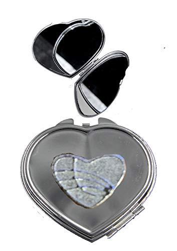 GIFTSFORALL FT327 Miroir Compact en Forme de cœur Style Celtique 2,3 x 2,1 cm en étain Anglais sur Un cœur chromé