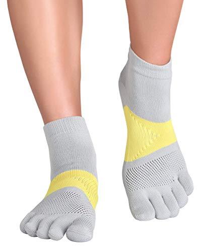 Knitido MTS Tornado calcetines deportivos ultra-robustos contra las ampollas, Talla:43-46, Color:Gris Plata / Amarillo (227)