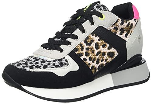 Sneakers DE CUÑA Interna con Rejilla, Animal Print Y TOQUES FLÚOR para Mujer KAPOLEI