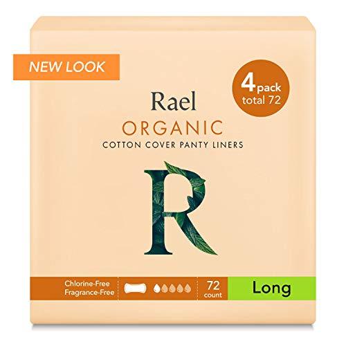 Rael Longueur 100% coton bio unités–non parfumées Protections hygiéniques–Naturelle protège-slips Quotidiennes