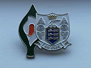 Clare Easter Lily Enamel Pin Badge - Irish Republican Rebel 1916