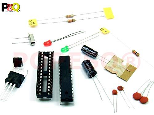 POPESQ® – Arduino UNO Standalone KIT ATMEGA328P-PU mi/with ARDUINO UNO Bootloader - 5V Spannungsstabilisator, MCU#A18