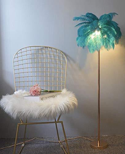 Lámpara de polo alto elegante Sofá lámpara vertical niña decoración lámpara dormitorio europeo diseño HMKJ (Color : Blue)