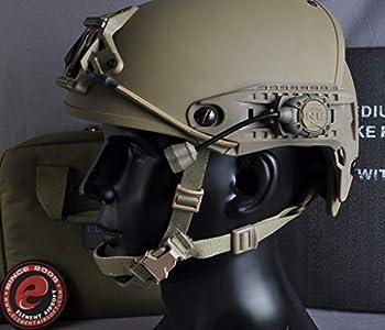 Night-Evolution Tactical Helmet Light Pro IR Signal de Survie Casque Militaire Montage Lampe Torche Accessoires pour Lampe de Travail Tuyau de Serpent pour Chasse en Plein Air Sport 3 Lumières DE-GR