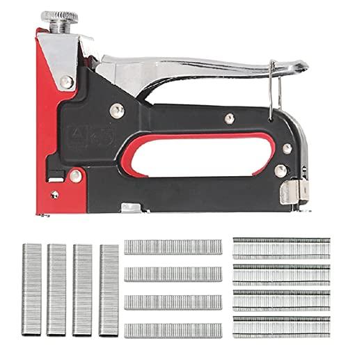 3 en 1 Multifunción Grapadora manual Pistola pesada Pistola de metal Herramienta de metal Tipo de U Straight Straight con grapas para tapicería Fijación Material Decoración Muebles de carpintería