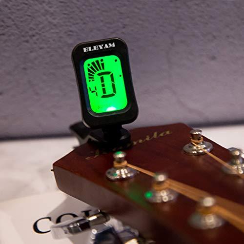 『Eleyam ギター チューナー クリップチューナー ギター/ベース/ウクレレ/バイオリン用 ブラック』の6枚目の画像