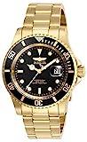 Invicta Men's Pro Diver 40mm Stainless Steel Quartz Watch, Gold/Black (Model: 26975)