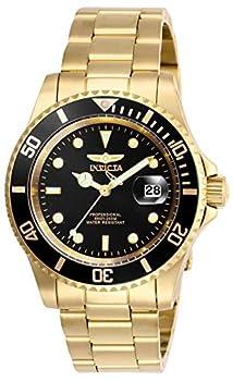 Invicta Men s Pro Diver 40mm Stainless Steel Quartz Watch Gold/Black  Model  26975