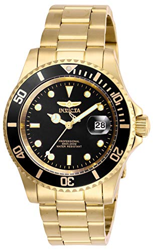 Invicta Men's Pro Diver Quartz Watch with Stainless Steel Strap, Gold, 20 (Model: 26975)