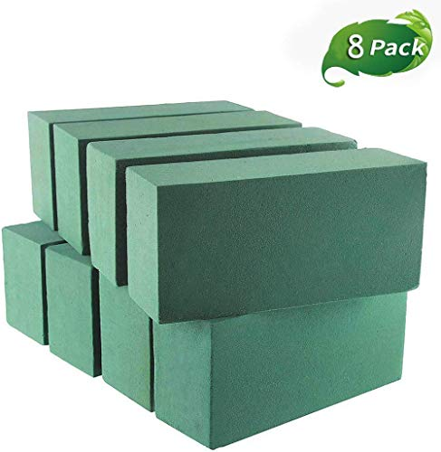 Crafare 8pc Floral Foam Bricks, Florist Styrofoam Block for Fresh Flower Arrangement and Wedding Centerpieces