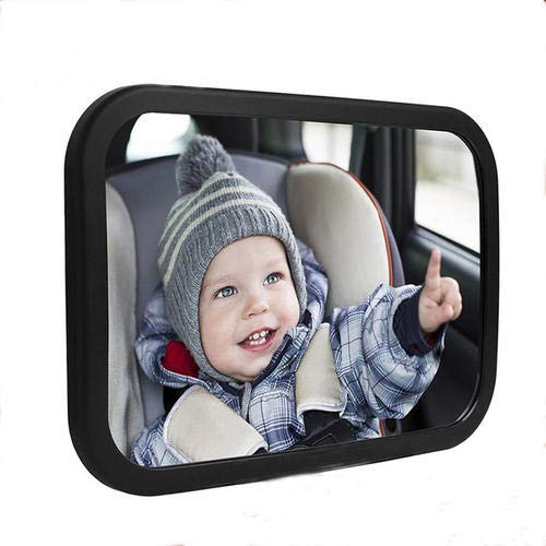 Homeon Wheels Baby car Mirror Wide View Shatterproof Adjustable Acrylic 360°for Backseat, Safety Car Seat Mirror Easily to Observe The Baby's Every Move