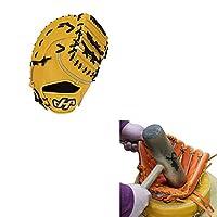 【湯もみ型付け込み/代引、後払い不可 】 ハタケヤマ HATAKEYAMA 軟式 ファーストミット 一塁手用 TH-F01Y イエロー 左投