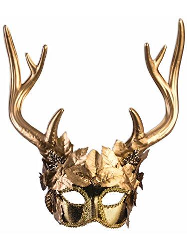 Golden Faun Mask Costume Accessory