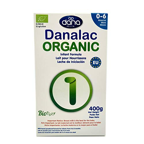 DANALAC Organic Infant Formula 400 gr Stage 1 Baby Milk Powder for Infants and Toddlers Age 0-6 Months (Pack of 1)
