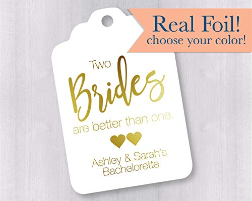 Two Brides Are Better Than One Favor Tags