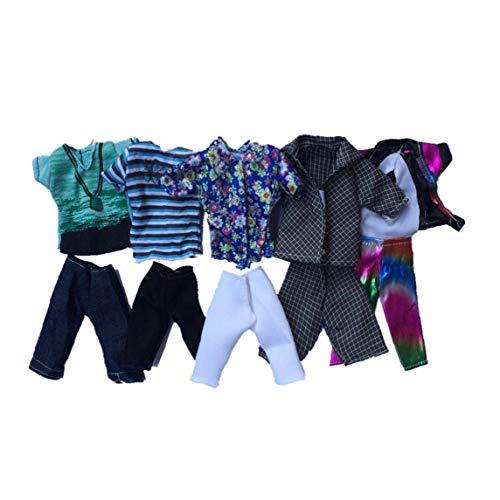 Juguete Ropa del Verano De Deporte De La Manera Camisas Y Pantalones Cortos De Estilo Azar Ken Juguete 5set