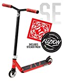 Fuzion Z250 Pro Scooters - Trick Scooter - Intermediate and Beginner Stunt Scooters for Kids 8 Years and Up, Teens and Adults – Durable, Smooth, Freestyle Kick Scooter for Boys and Girls (SE RED)