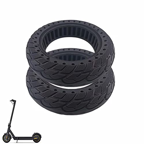 HGTRH Electric Scooter Tire 10 x 2.5, 10 inch Solid Rubber Tires, Anti-Puncture Tire Compatible with Ninebot MAX G30 / Xiaomi M365 / M365PRO / PRO2 / 1S / LITE Electric Scooter, 2 Pcs