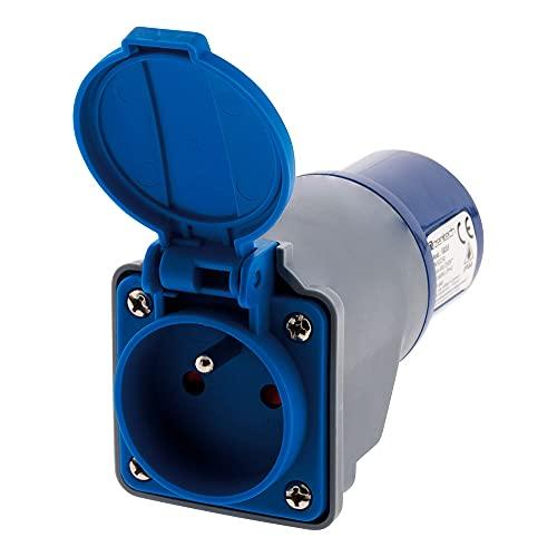 Adaptateur compact sans câble Femelle 16A 2P+T en Mâle CEE17 pour CAMPING, NAUTISME? - Zenitech